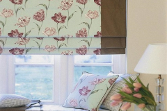 Roman Blind with contrast left trim