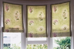 Roman Blind with contrast edge trim