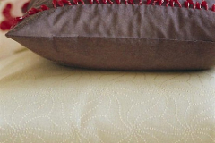 Cushion with inner beaded trim